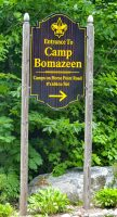 BELGRADE, ME - JULY 17: This Friday July 17, 2020 photo shows Camp Bomazen entrance on Horse Point Road in Belgrade. (Staff photo by Joe Phelan/Staff Photographer)
